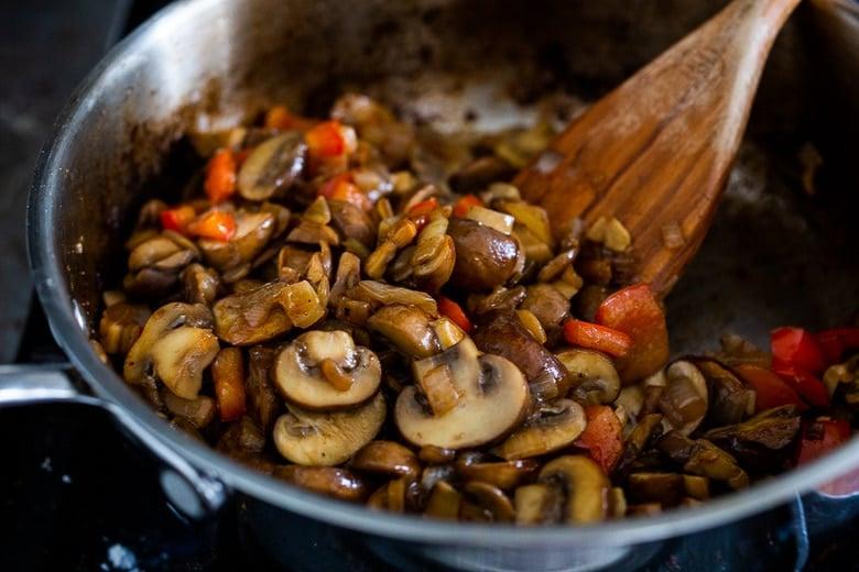 saute the mushrooms