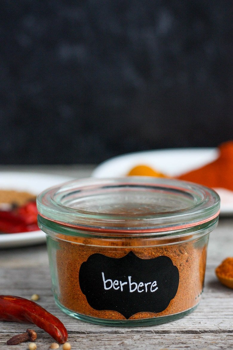 A flavorful Berbere spice recipe, made with common spices you may already have in your pantry. Filled with complex toasty flavor. Easy to make in about 15 minutes!