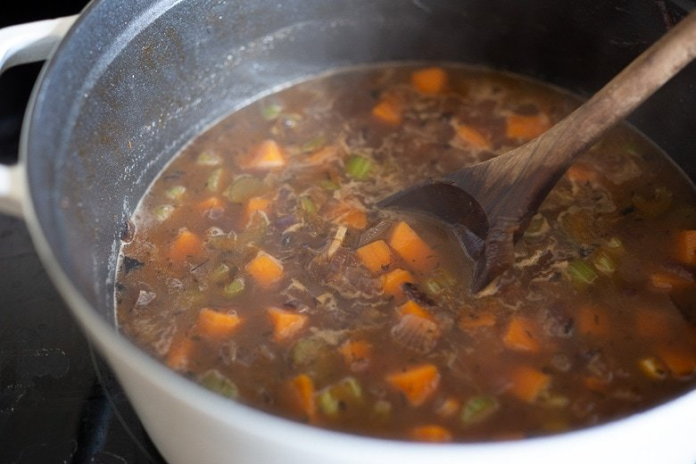simmer the soup