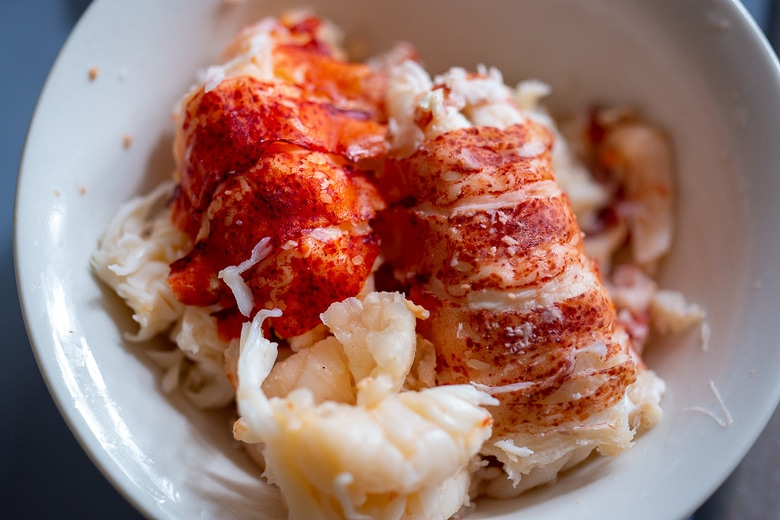 Refrigerate the lobster meat.