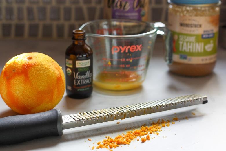 orange zest gives good flavor!