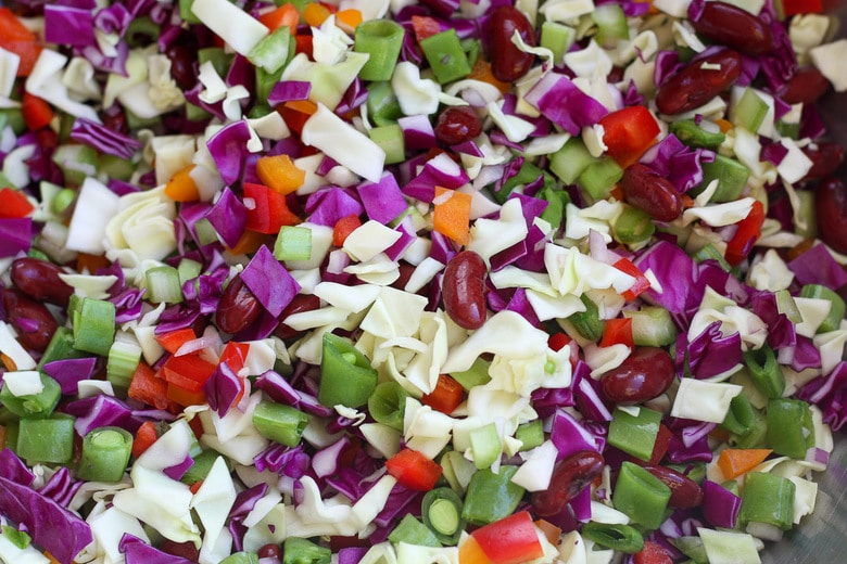 ingredients in chopped salad