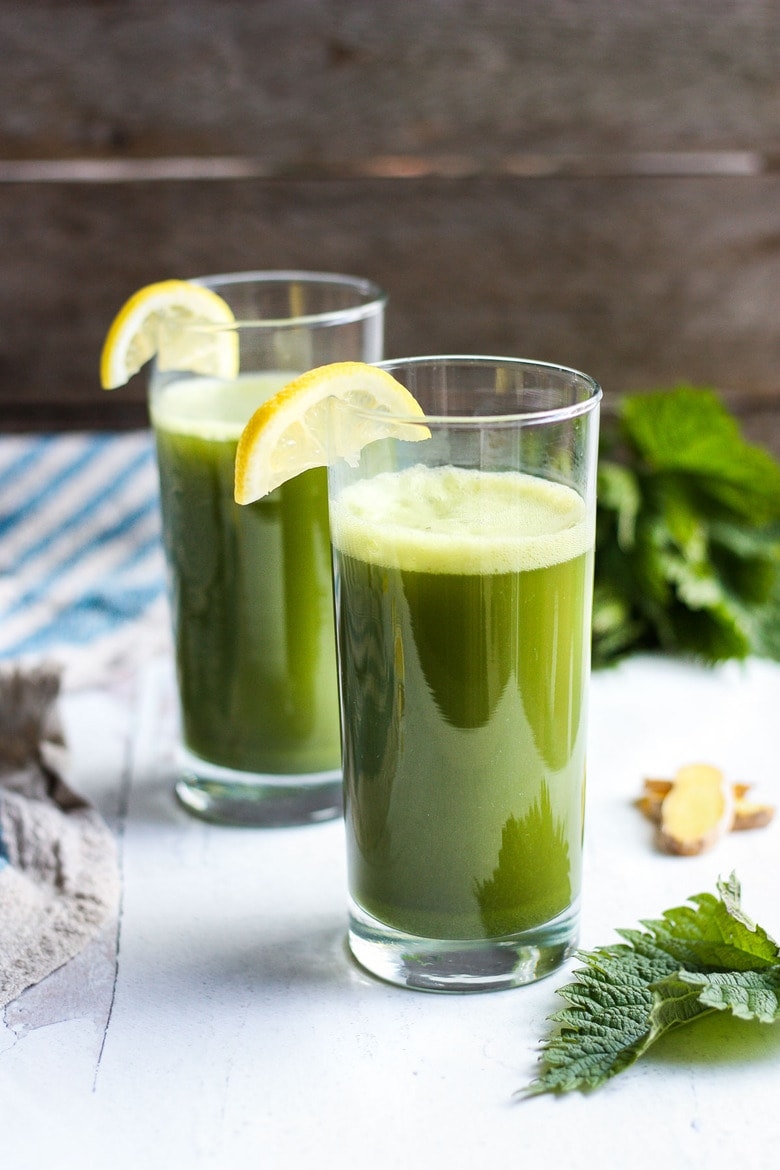 A vibrant Spring tonic, fresh Nettle Juice is full of minerals, vitamins and phytonutrients. With just a few ingredients thrown in the blender your super-nutritious green juice is ready in minutes!
