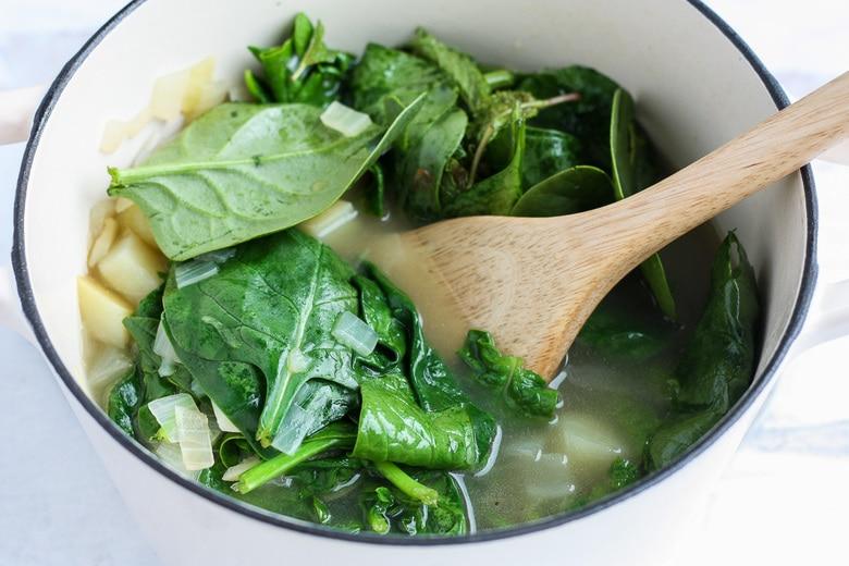 add fresh spinach