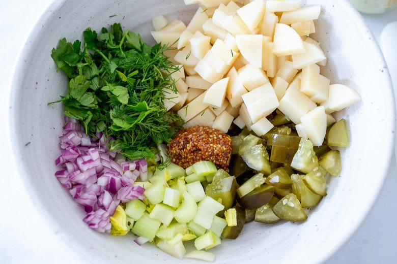 place all ingredients in a bowl