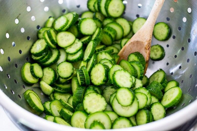 strain the cucumber liquid