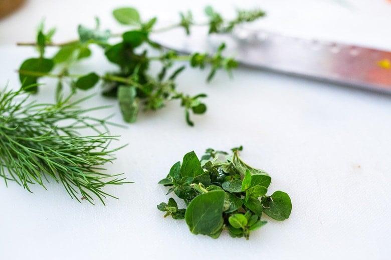 chop the herbs