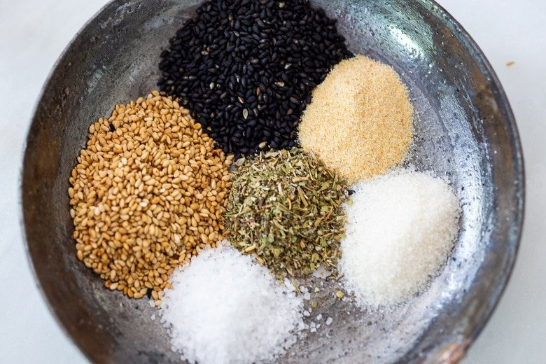 sesame spice crust ingredients