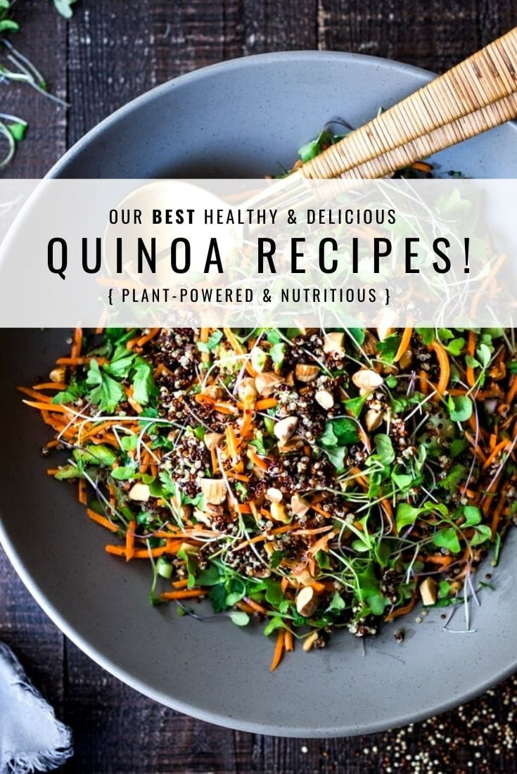 Our 20 Best Quinoa Recipes and quinoa ideas on the blog. Healthy delicious and very nutritious, many are vegan and all are gluten-free!