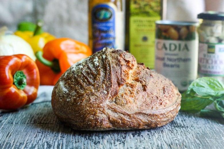 ingredients of tuscan bread salad