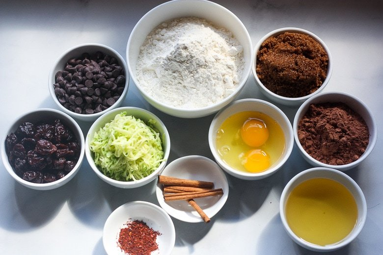 ingredients in muffins