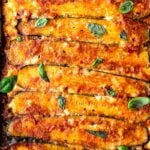 A savory recipe for Zucchini Lasagna, made without noodles for a low carb, keto version of one of our favorite meals! #ketolasagna #zucchinilasagna