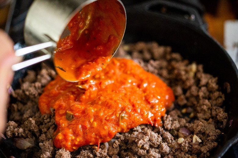 stir in the marinara sauce