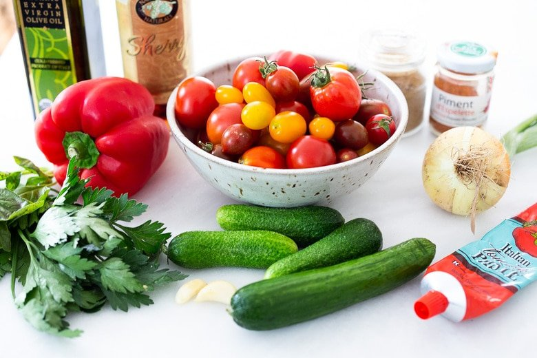 ingredients in traditional gazpacho