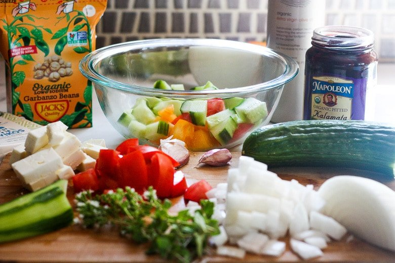 chopped ingredients for relish