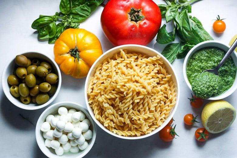ingredients in pasta salad