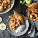 This recipe for Easy Apple Pie is made with spiced roasted apples and pie crust cookies. A quicker way to make pie with all the comforting flavors and a guaranteed flakey crispy crust.