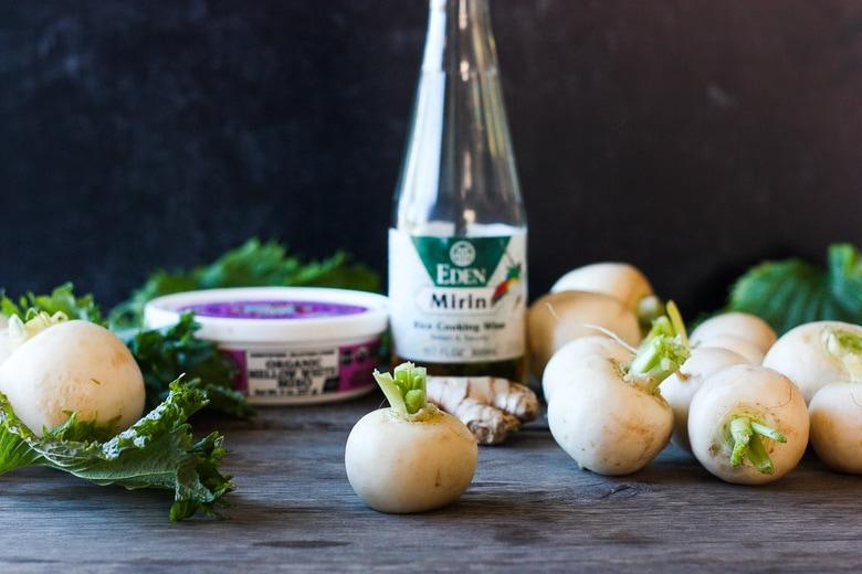 ingredients in braised turnips