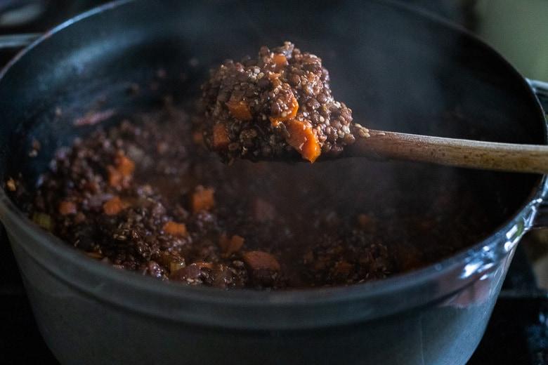 taste and add balsamic vinegar
