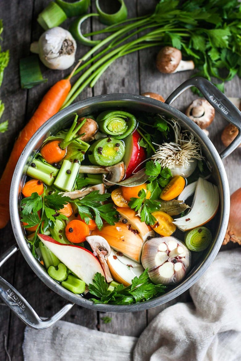 How to makeVegetable Broth! A nutritious and deeply flavorful recipe for Vegetable stock to enhance your soups, risottos, sauces, and more. Adaptable and easy to make!