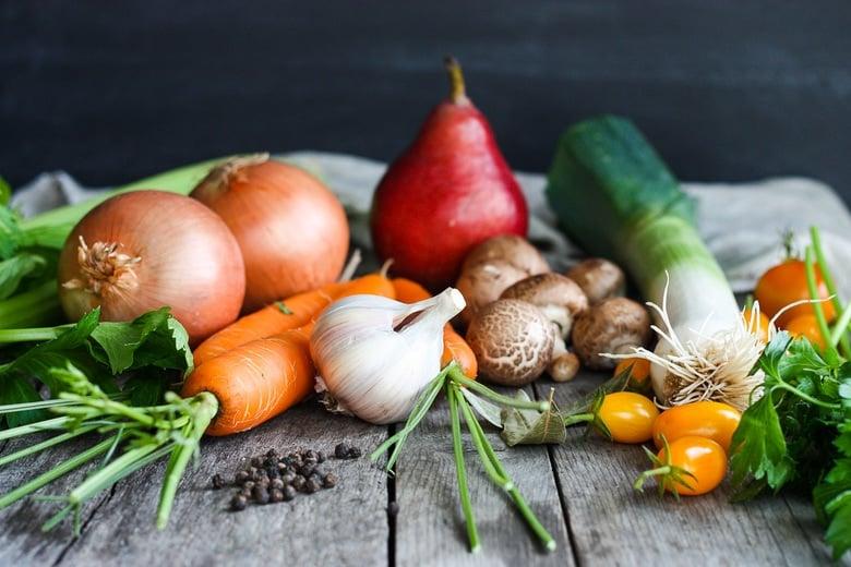 ingredients in veggie stock